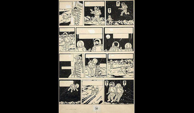 Tintin Drawing Sold For €1.55 Mn