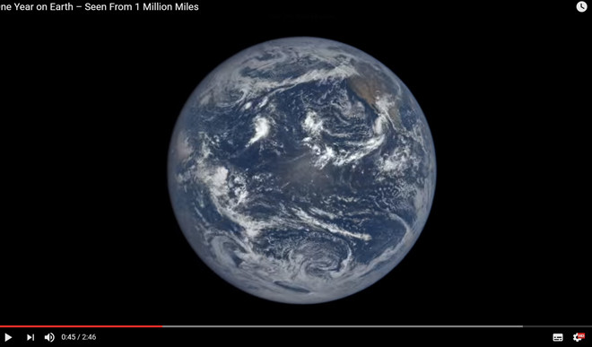 One Year On Earth – Seen From 1 Million Miles