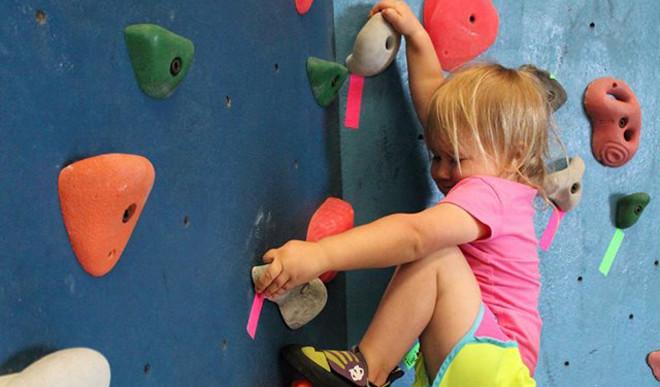 She's A Rock Climber At 20 Months!