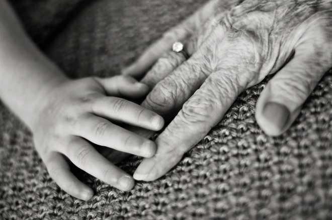 Aditi On Her Grandmother