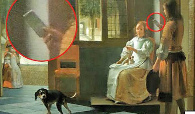 80-yr-old Painting Shows American With Smartphone?