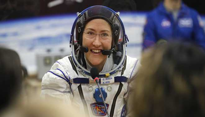 Koch Sets A Record For Longest Spaceflight By A Women