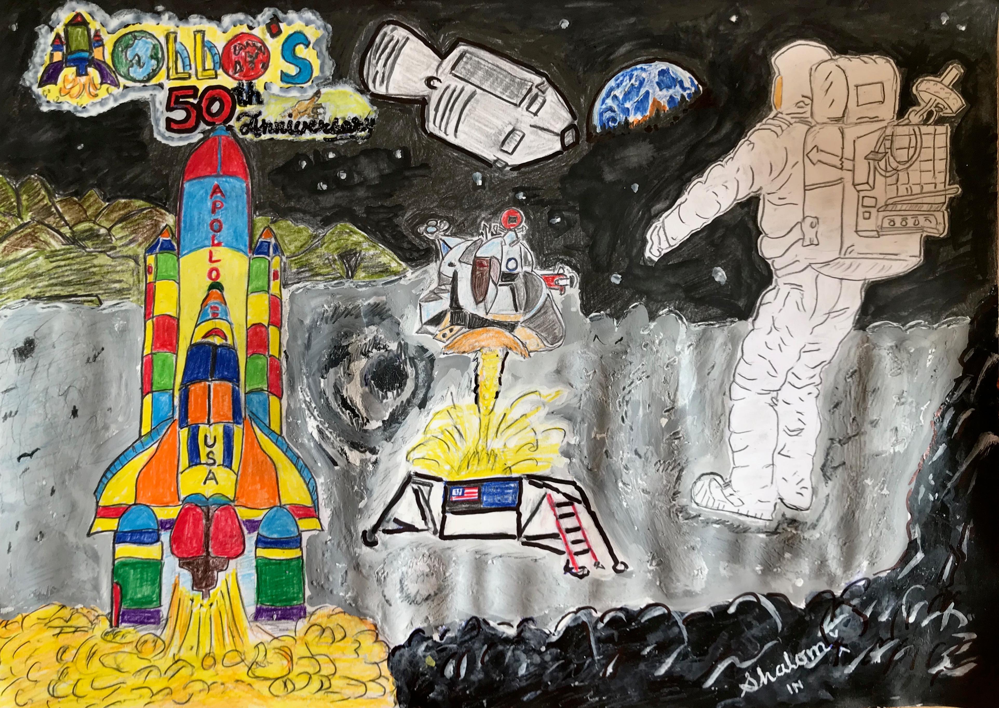 Shalom's Art On 'Apollo's 50th Anniversary'